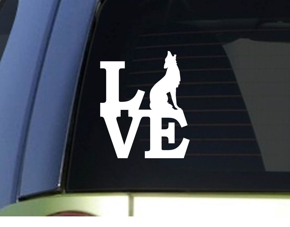Coyote Love *H939* 6 inch Sticker decal predator decoy ...