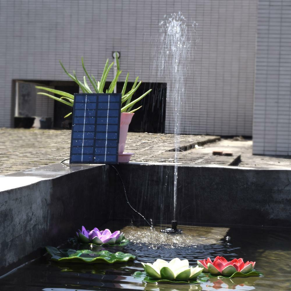 Solar powered submersible water pond light outdoor garden for Garden pool fountains