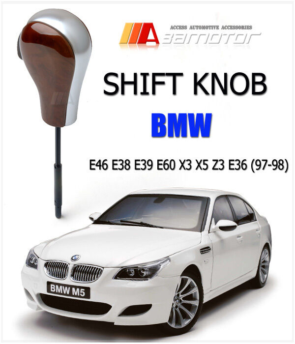 Wood Automatic Transmission At Shift Knob For Bmw E46 E38