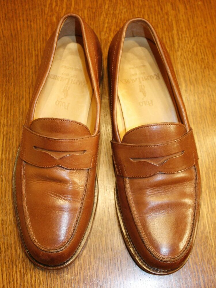 Polo Ralph Lauren Mens Penny Loafers Shoes Burnished