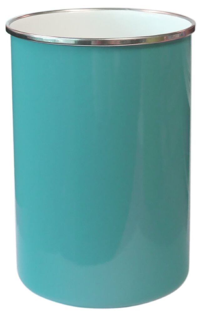 Kitchen Storage Countertop Utensil Holder Tools Container Turquoise Blue Ebay