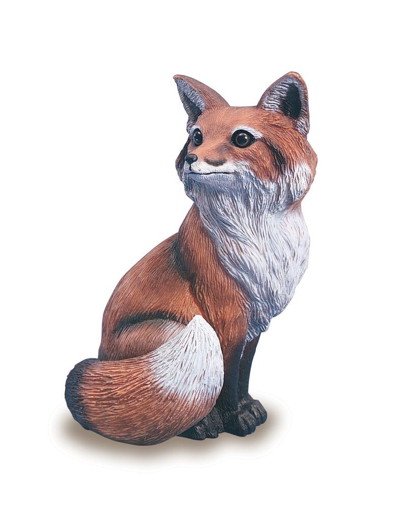Fox Garden Statue Outdoor Yard Decor Home Art Lawn