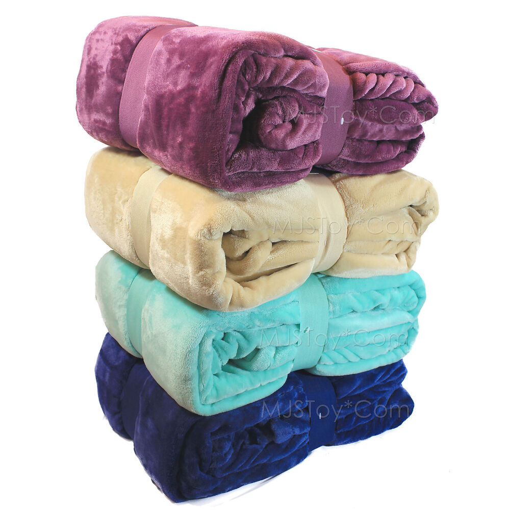 New warm super soft velvet plush lounge throw blanket twin for Soft blankets and throws