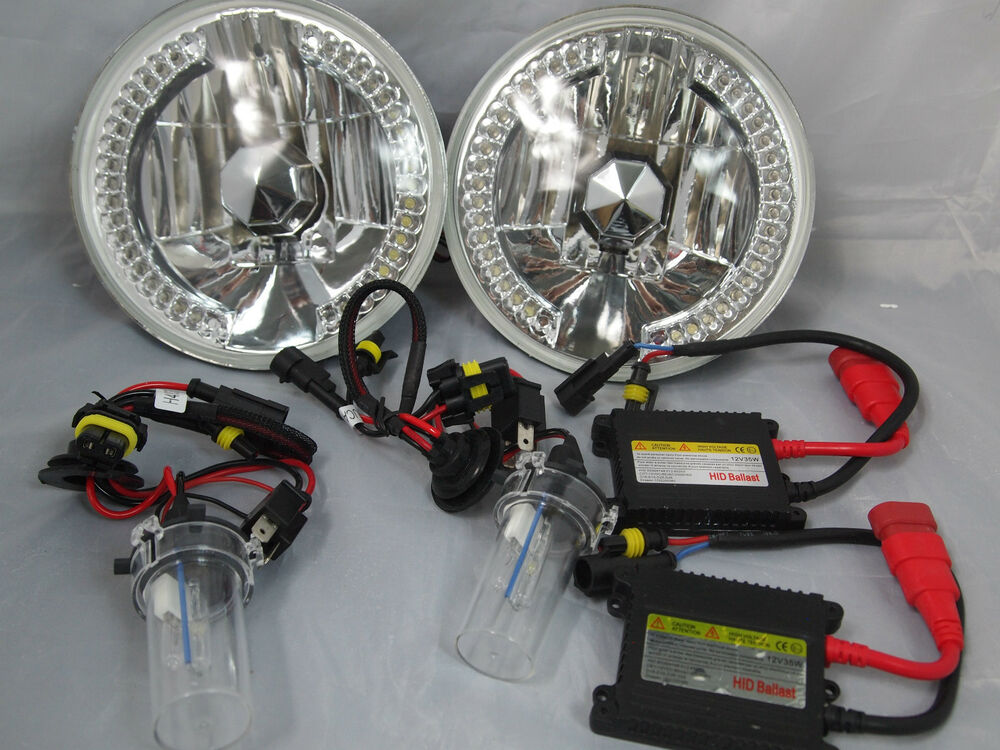 Jeep Wrangler 7 Quot Hid 10000k Conversion Clear Led