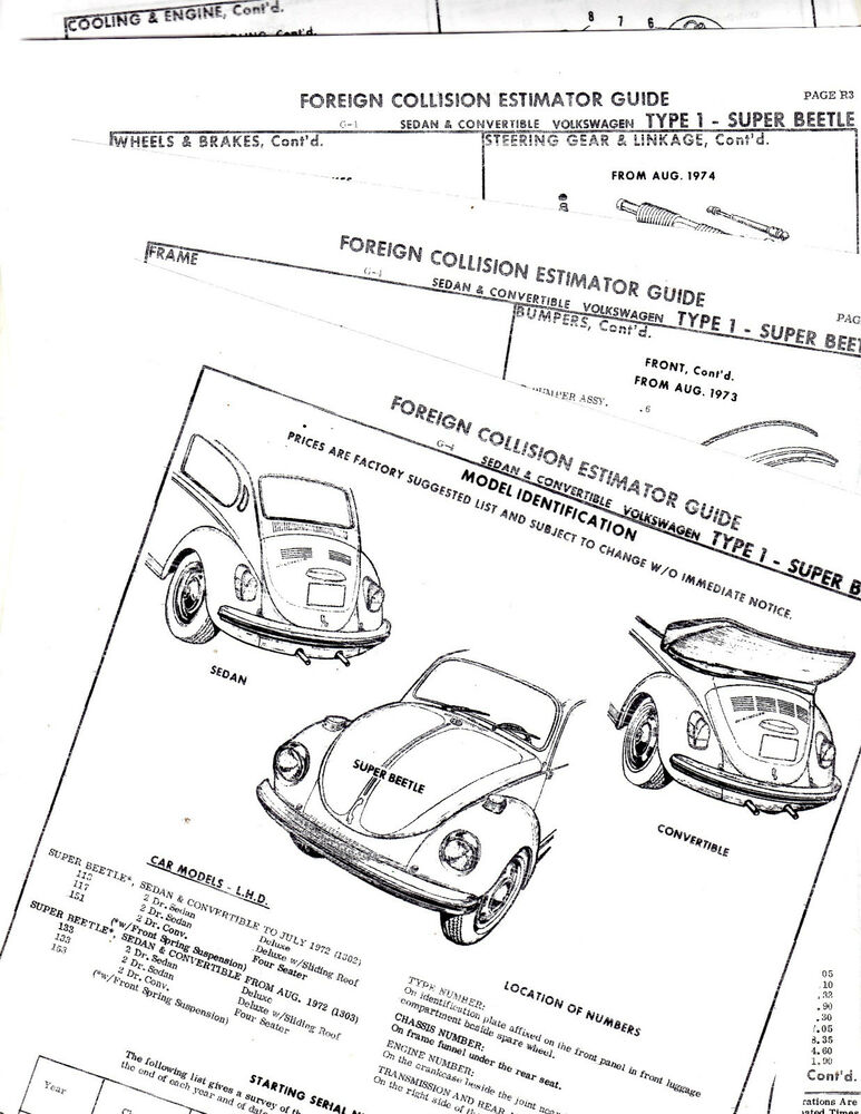 1973 volkswagen super beetle parts