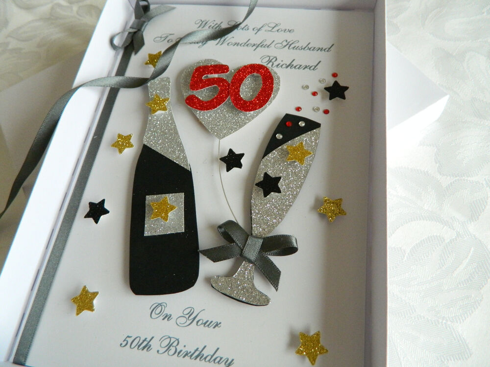 Handmade Personalised Birthday Card Boyfriend/Husband/Dad