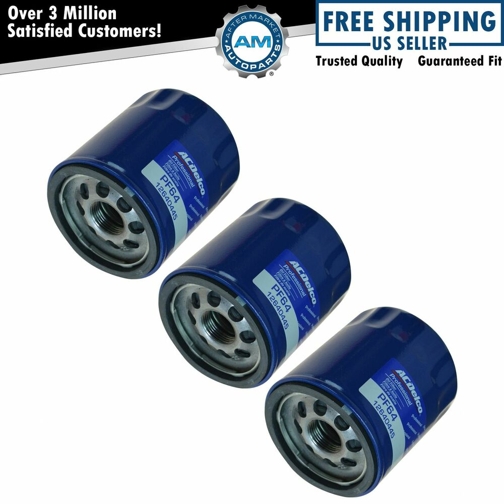 ac delco pf64 engine oil filter set of 3 for buick. Black Bedroom Furniture Sets. Home Design Ideas