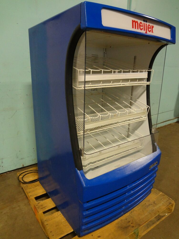 beverage air commercial refrigerated lighted open cold