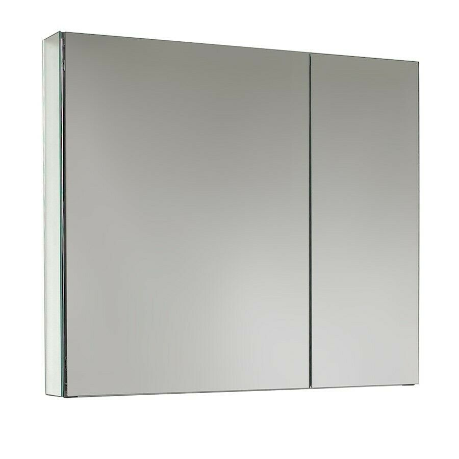 Fresca 30 wide bathroom medicine cabinet w mirrors - Large medicine cabinet mirror bathroom ...