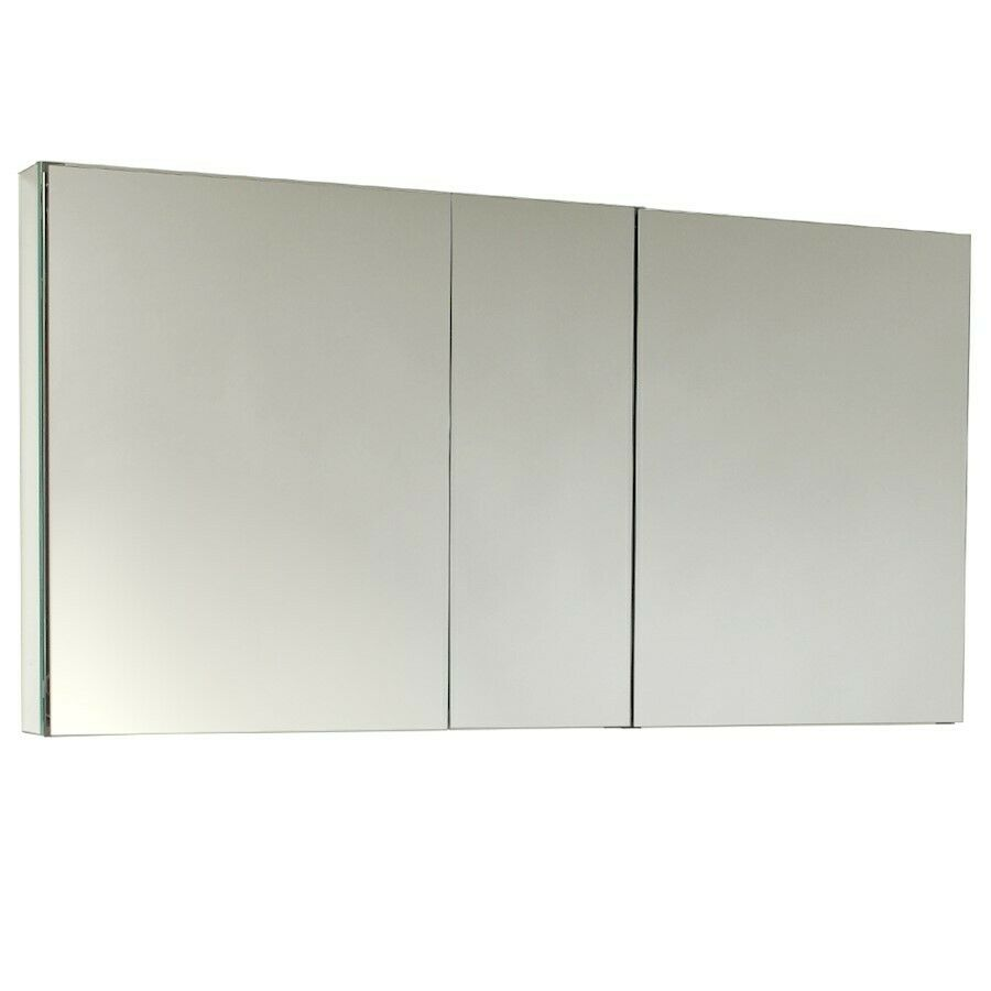 Fresca 50 wide bathroom medicine cabinet w mirrors for Bathroom cabinets 25cm wide