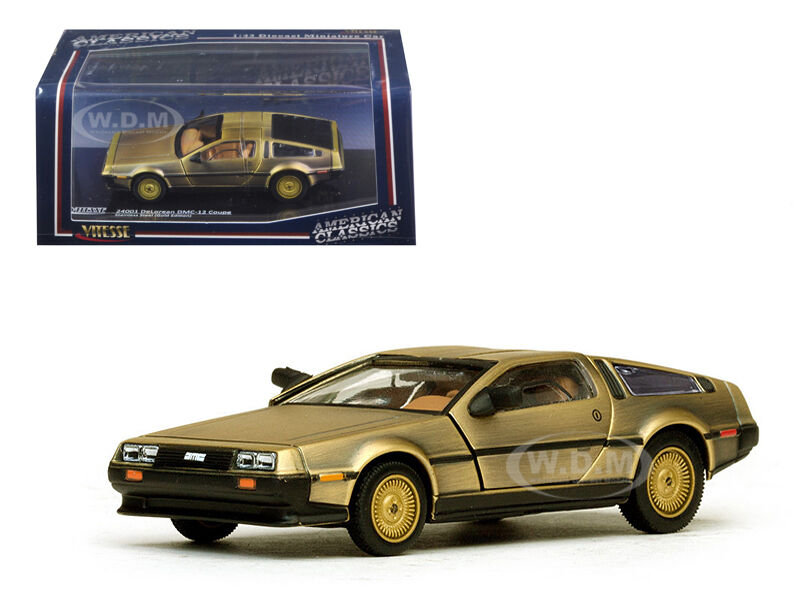 de lorean dmc 12 coupe gold 1 43 diecast model car by. Black Bedroom Furniture Sets. Home Design Ideas
