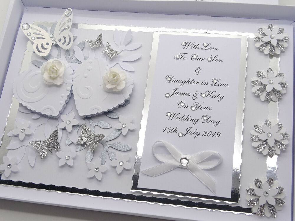 Wedding Gift Card Box Uk : ... Handmade Card Wedding Day Anniversary Engagement 3D Gift Box eBay