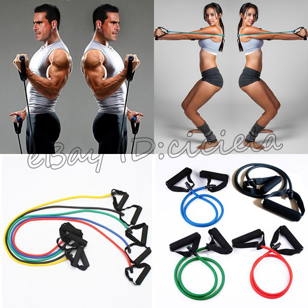 Workout Bands Com: 1Pcs Brand Exercise Latex Resistance Bands Tube Workout