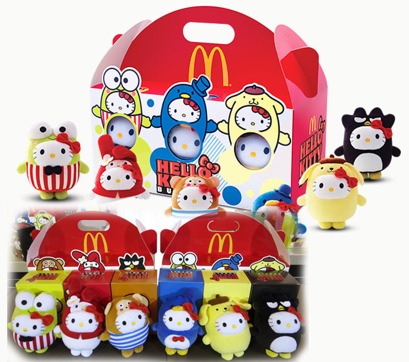 Hello Kitty Mcdonald S Toys : Mcdonald s hello kitty bubbly happy meal toys set of