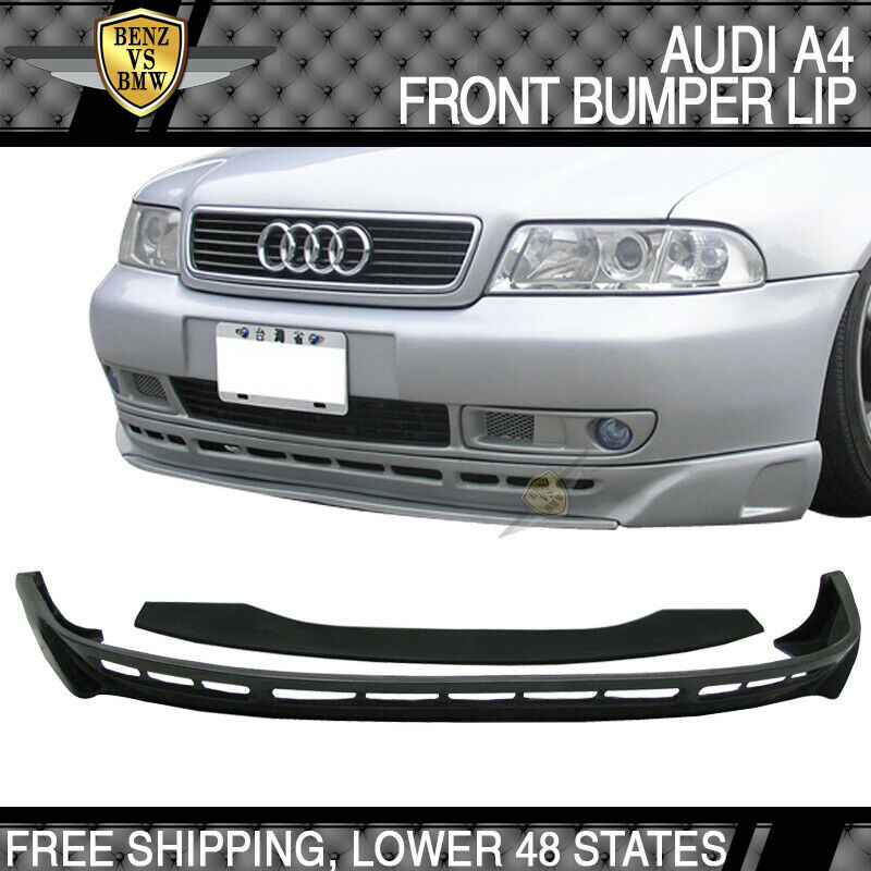 96 97 98 99 00 01 audi a4 b5 type a polyurethane front bumper under lip spoiler ebay. Black Bedroom Furniture Sets. Home Design Ideas