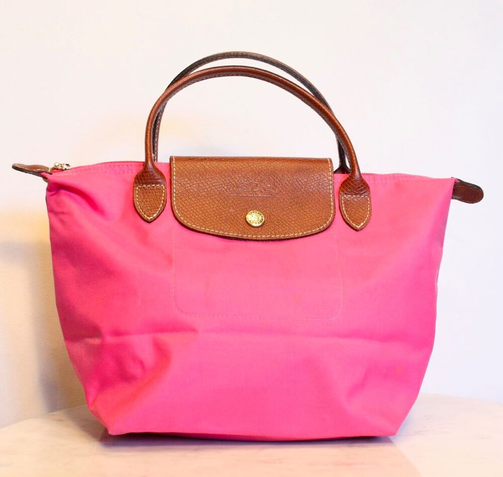 longchamp le pliage small shopper tote bag in pink made in france ebay. Black Bedroom Furniture Sets. Home Design Ideas