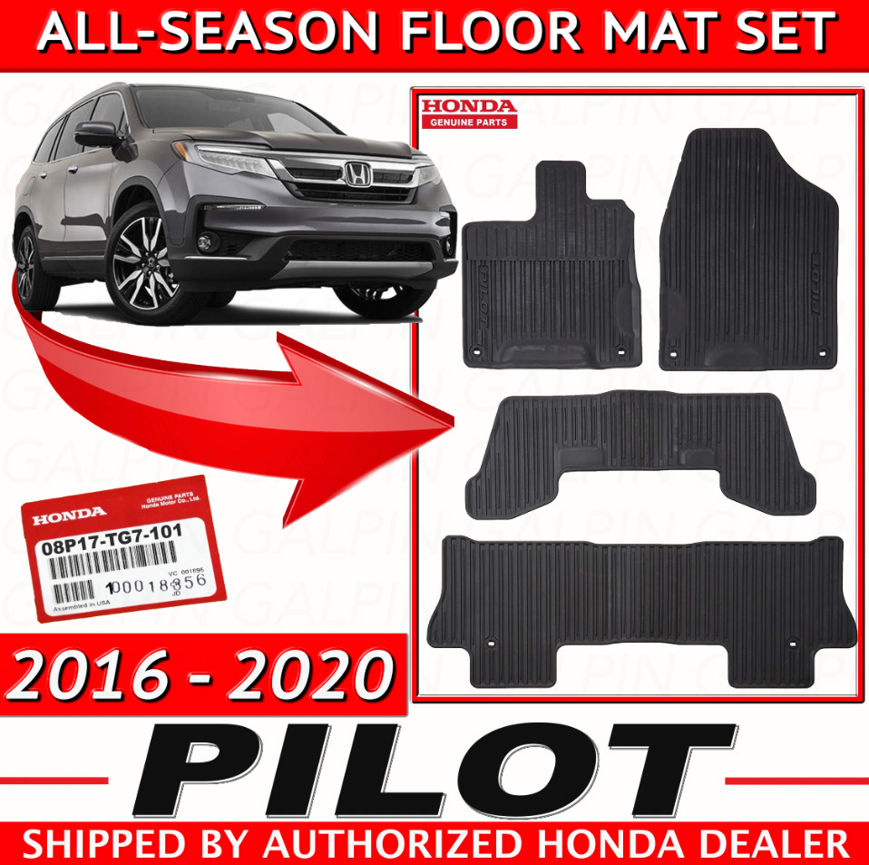 2016 2017 Genuine Oem Honda Pilot All Season Floor Mat