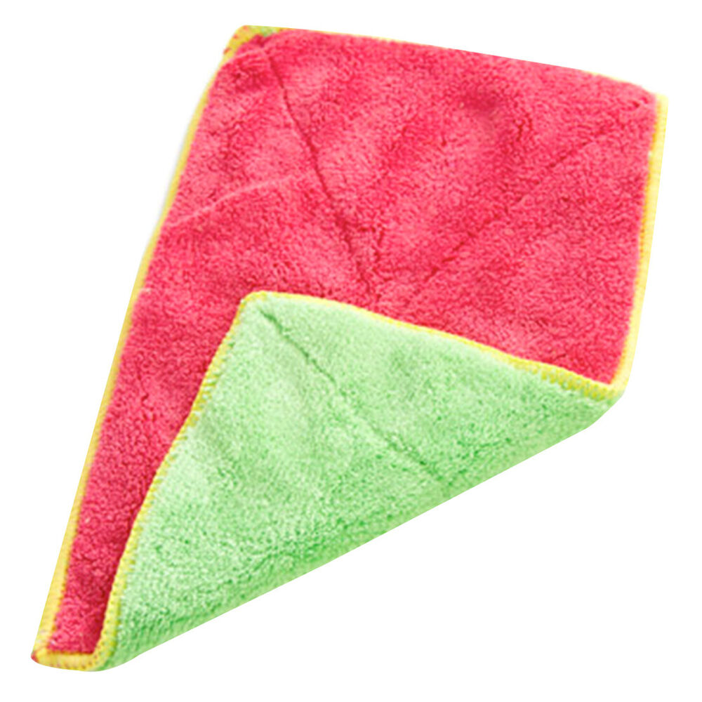 Kitchen Towels: Kitchen Cleaning Bamboo Fiber Dishcloths Clean Bowl Water
