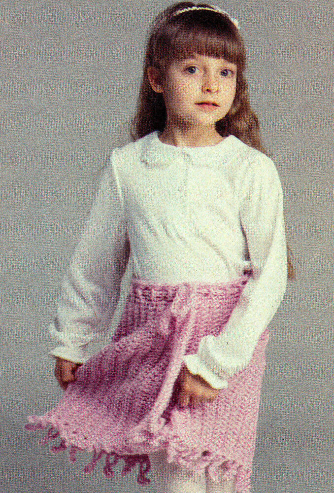 Easy Little Girl S Skirt Crochet Pattern Instructions Only