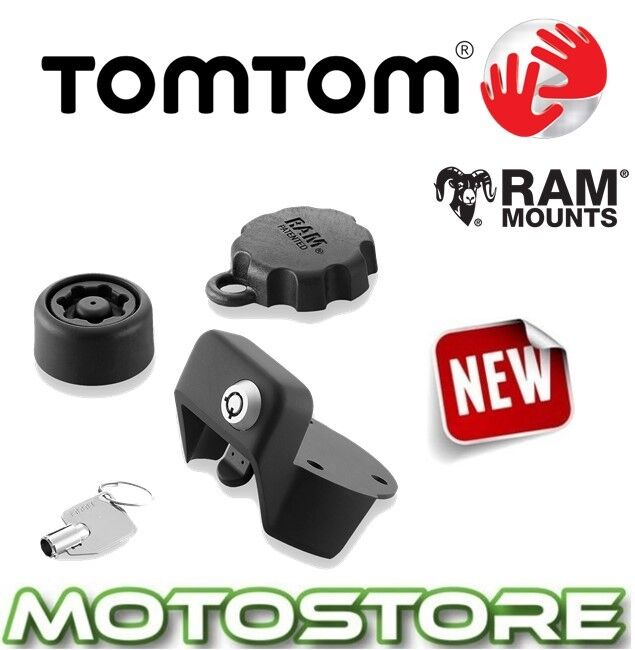 tomtom rider 40 400 500 series anti theft solution motorcycle sat nav mount ebay. Black Bedroom Furniture Sets. Home Design Ideas