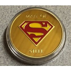 Kyпить Superman Coin Finished In GOLD 1oz Weight .999 Collectors Medal Token Super на еВаy.соm