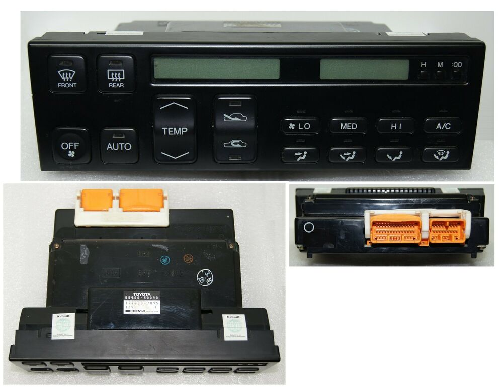 9092 19901992 Lexus Ls400 A C Climate Control Lcd Screen Glass New