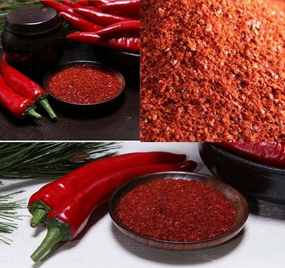 x 500g Korean Dried Red Pepper Powder Kimchi Spicy powder ...