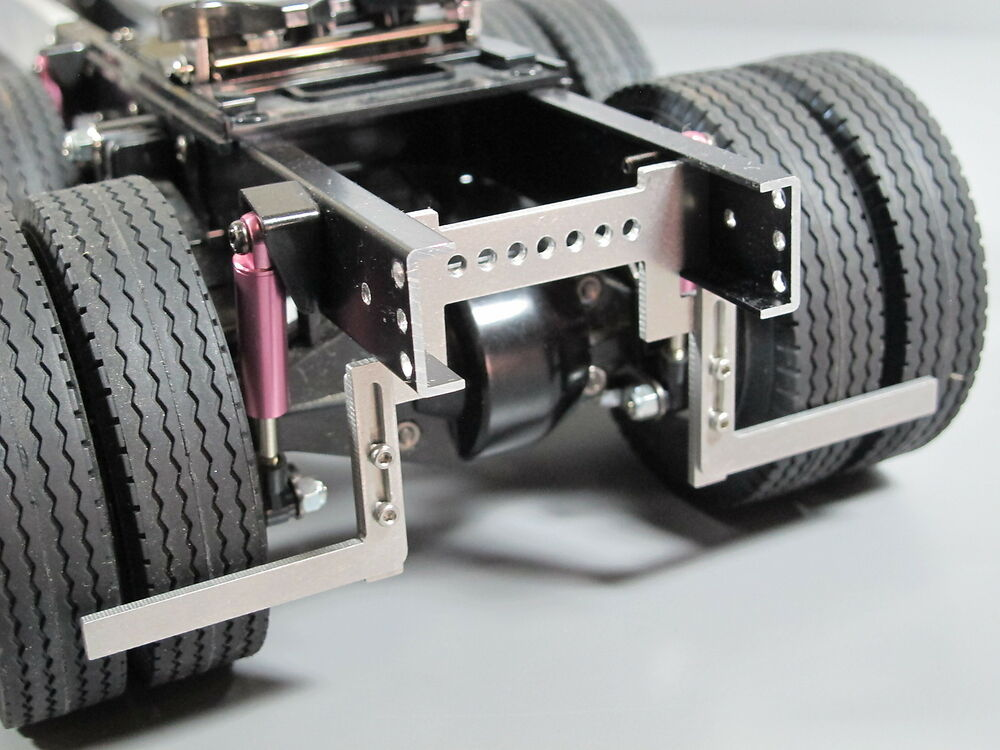 Aluminum Truck Fenders : Pair aluminum fender frame mount for tamiya semi king