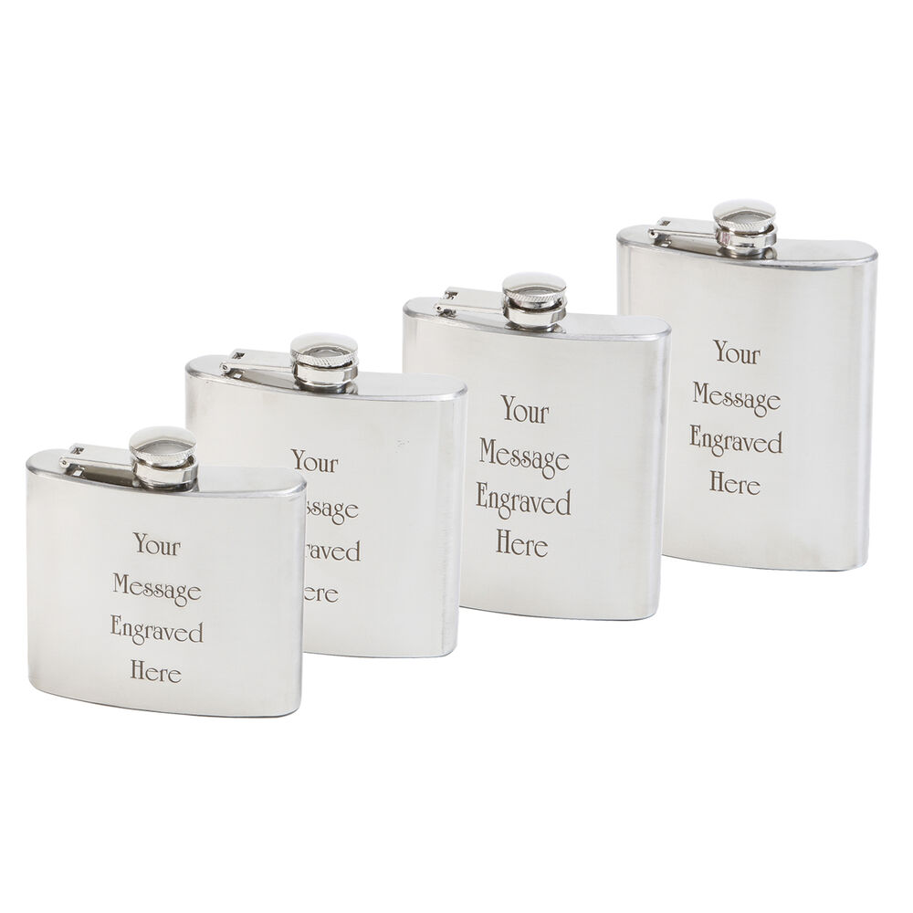 Personalised Wedding Gifts Best Man : Personalised Engraved Hip Flask Gift Wedding Best Man Usher Stainless ...