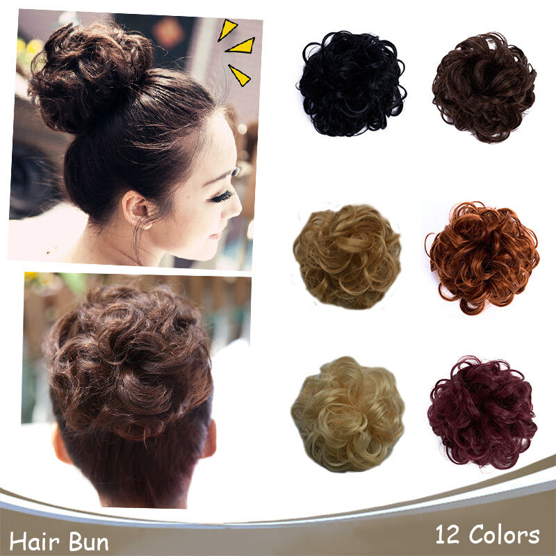 Onedor Synthetic Clip On In Messy Hair Bun Extension Chignon Hair Piece Wig Ebay