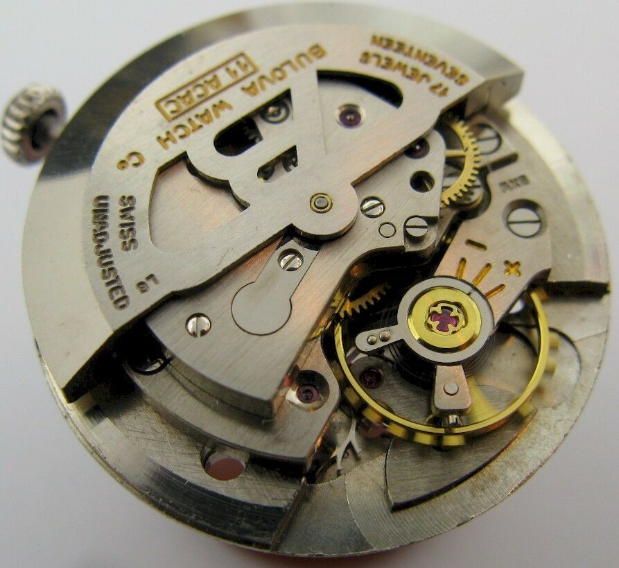 Used bulova 11acac automatic watch 17 jewels movement ebay for Auto movement watches