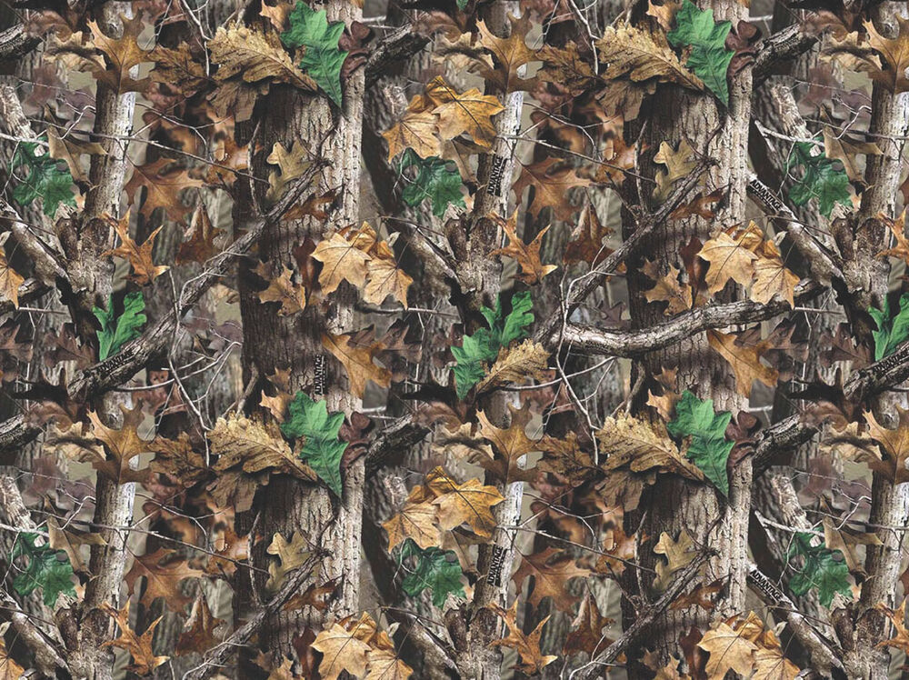 Realtree Camo Camouflage Leaves Branches Cotton Flannel