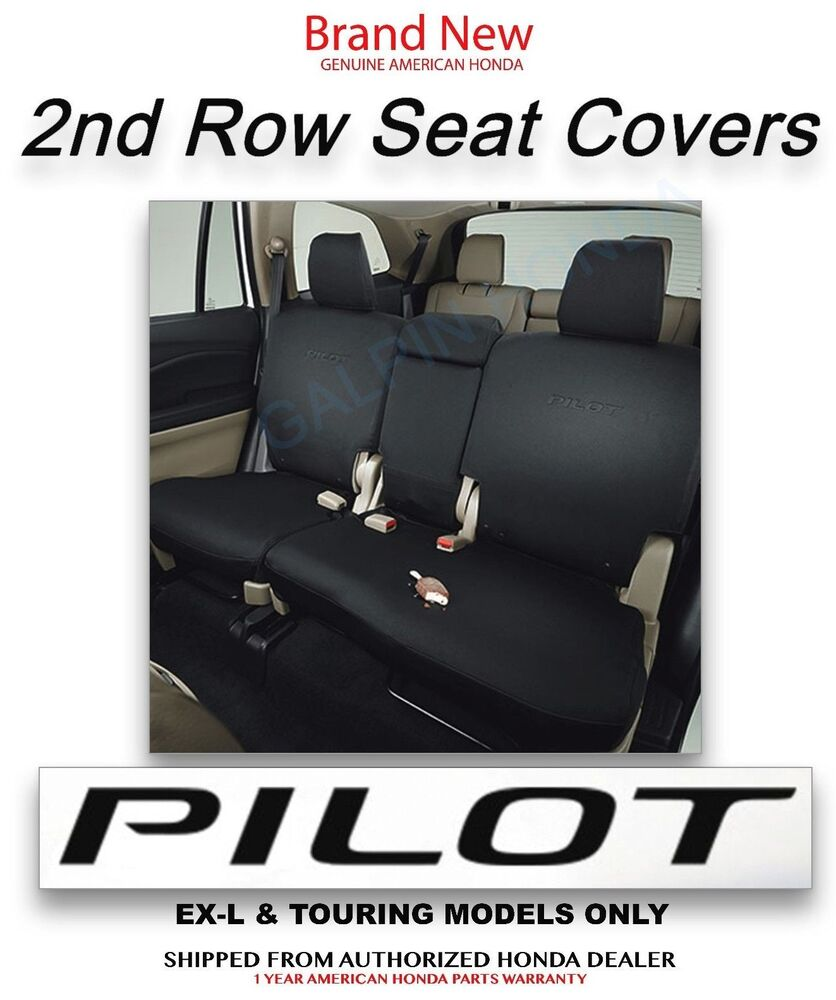 genuine oem honda pilot exl touring 2nd row seat cover 2016 08p32 tg7 110b ebay. Black Bedroom Furniture Sets. Home Design Ideas