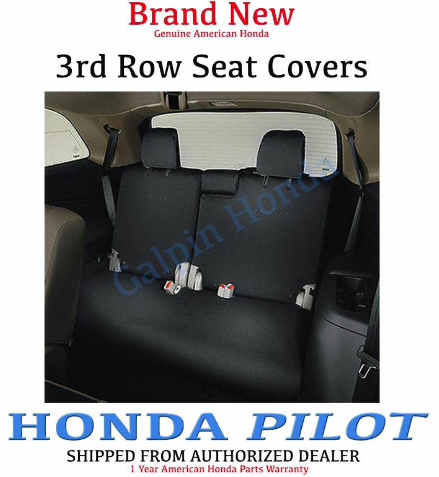 genuine oem honda pilot 3rd third row seat cover 2016 08p32 tg7 110d ebay. Black Bedroom Furniture Sets. Home Design Ideas