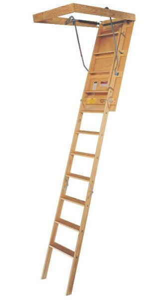 New Louisville Ladder S224p 250 Pound Rated Wooden Attic