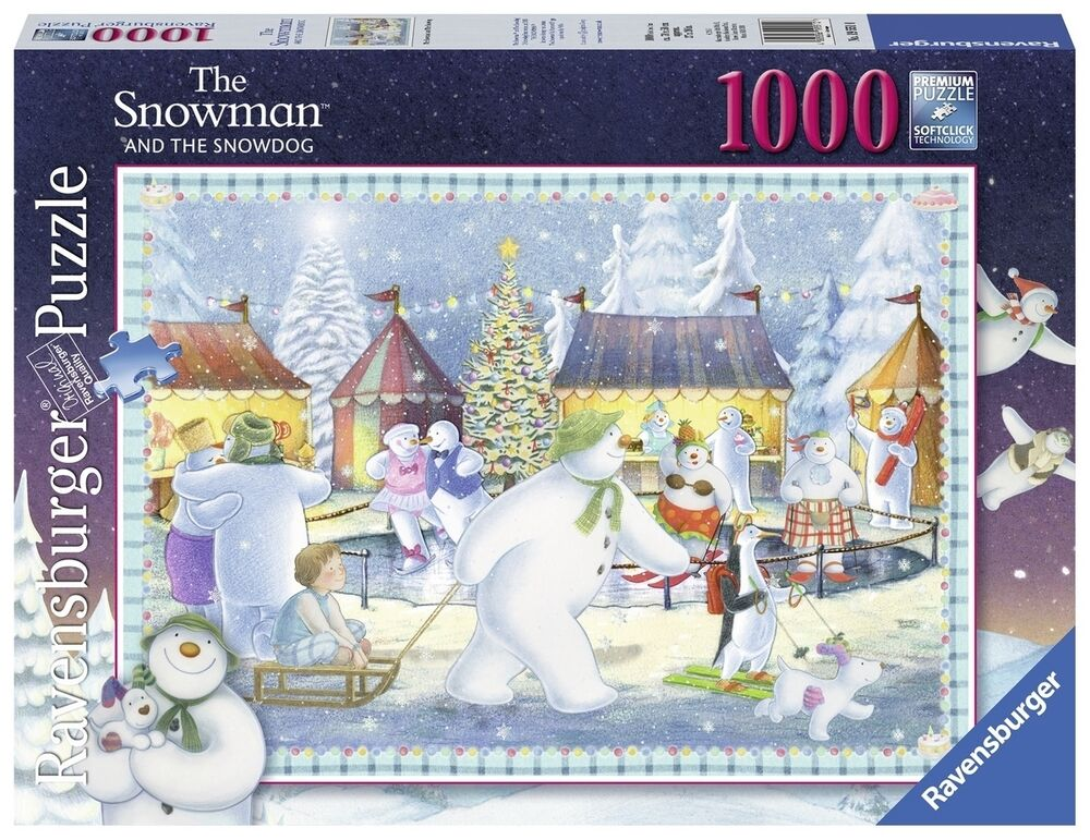 ravensburger christmas puzzle 1000 t snowman and snowdog. Black Bedroom Furniture Sets. Home Design Ideas