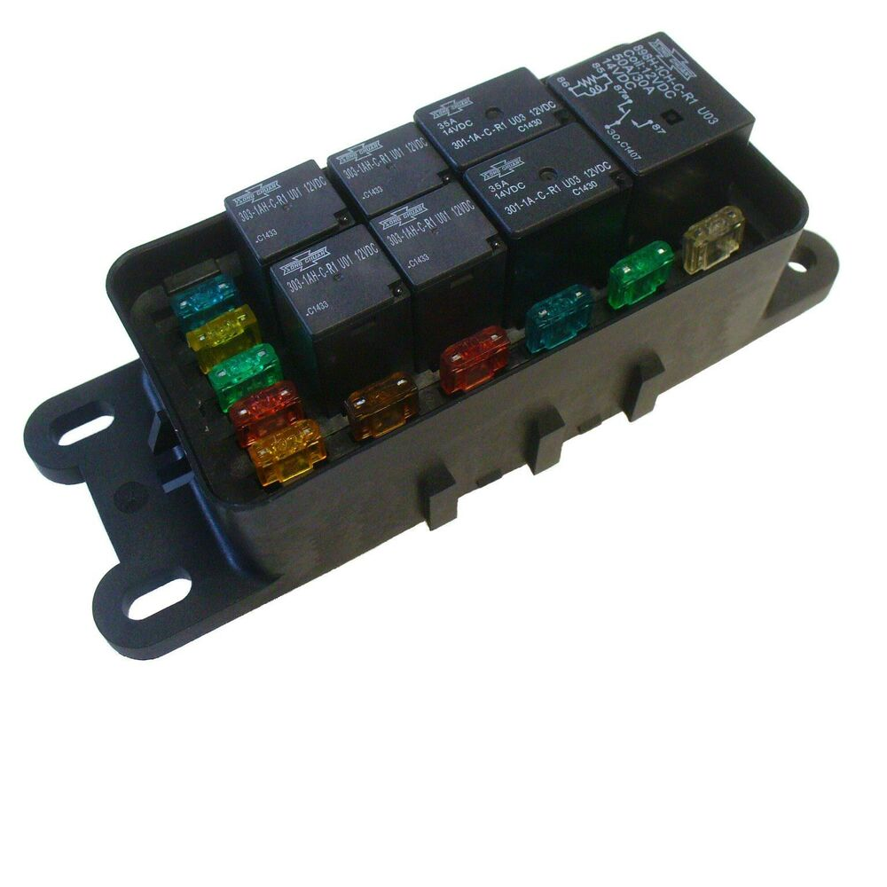 Fuse And Relay Box For Automotive : Hwb waterproof sealed fuse relay panel block atv car