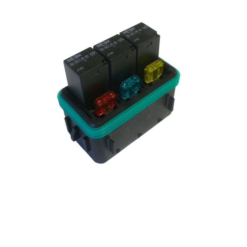 Hwb18 Waterproof Sealed Fuse Relay Panel Block Atv Car