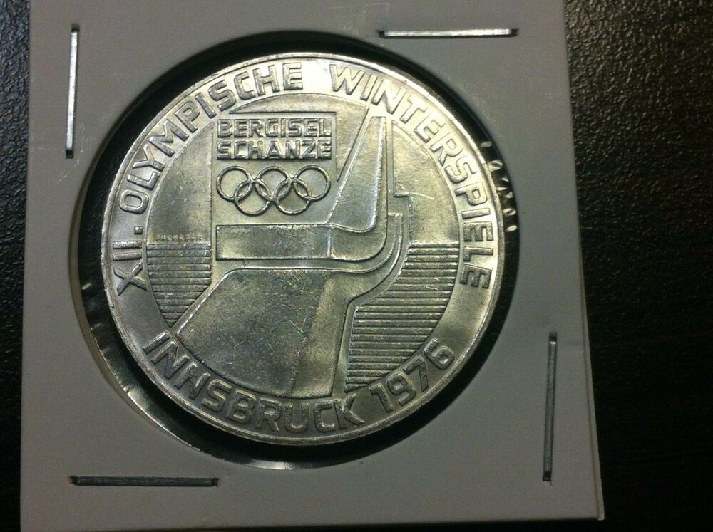 100 schilling 1976 austria silver coin winter olympics. Black Bedroom Furniture Sets. Home Design Ideas