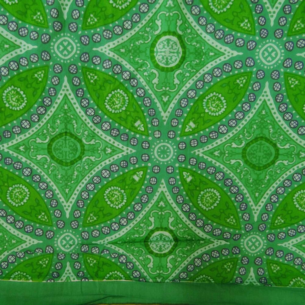 Green printed cotton fabric dressmaking fabric crafting by for Printed cotton fabric