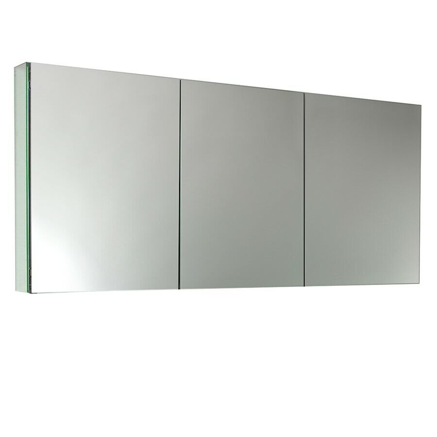 Fresca 60 wide bathroom medicine cabinet w mirrors - Bathroom mirrors and medicine cabinets ...
