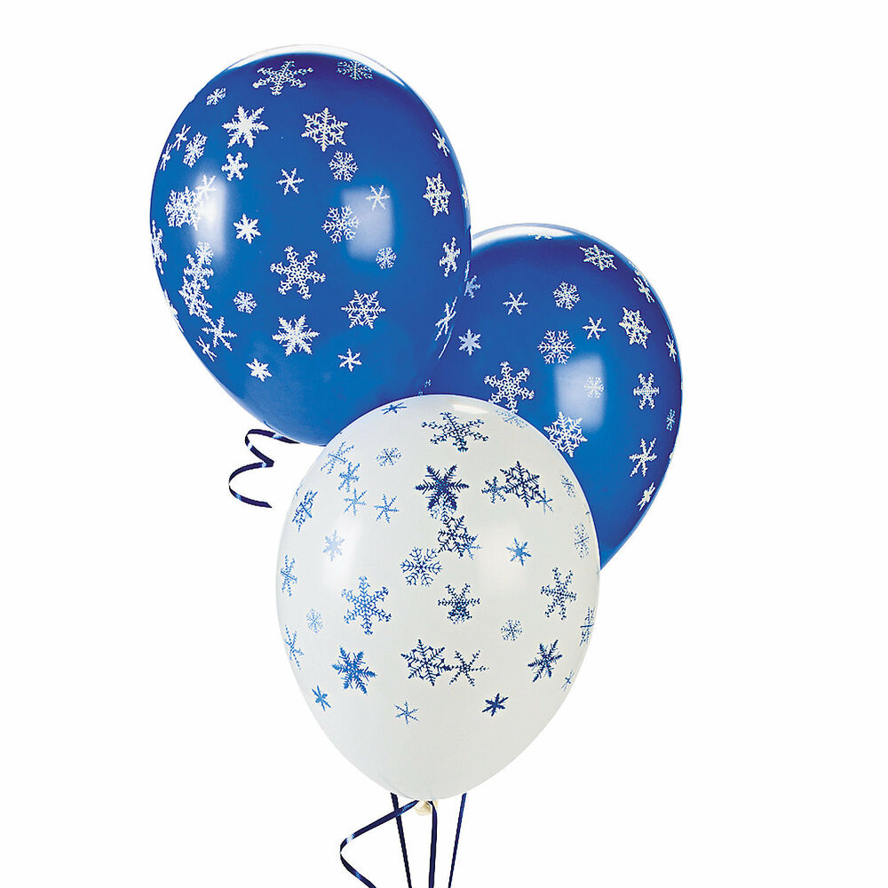 25 christmas winter or frozen party decorations latex for 25 decorations