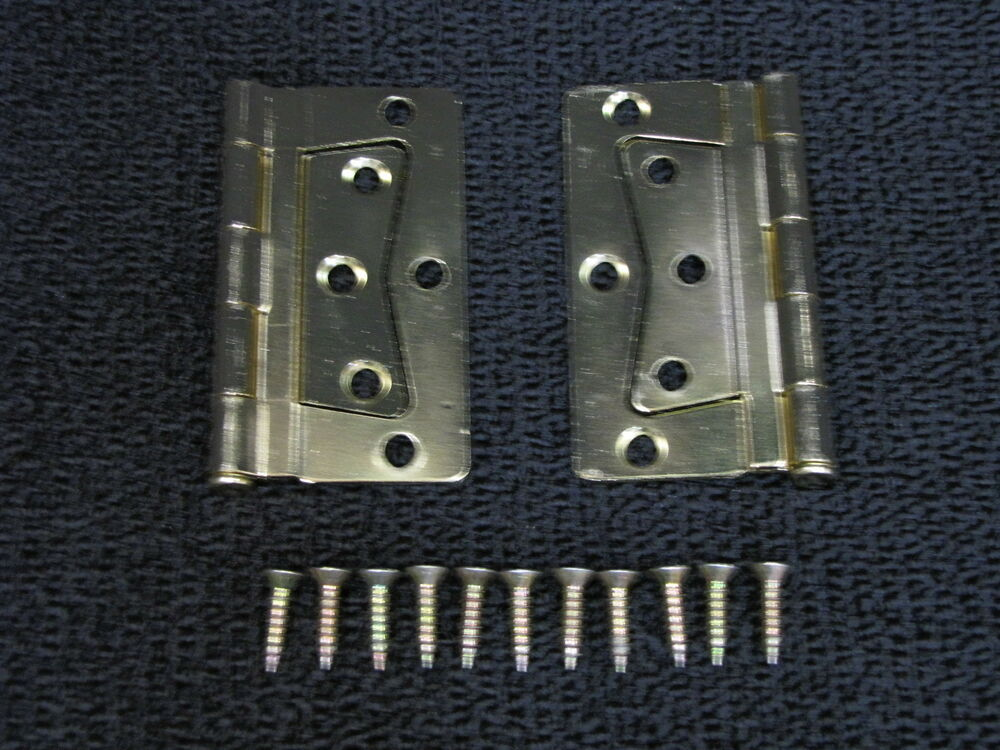 Mobile Home Rv Parts Interior Door Hinges Package Of 2 Non Mortise Brass Finish Ebay