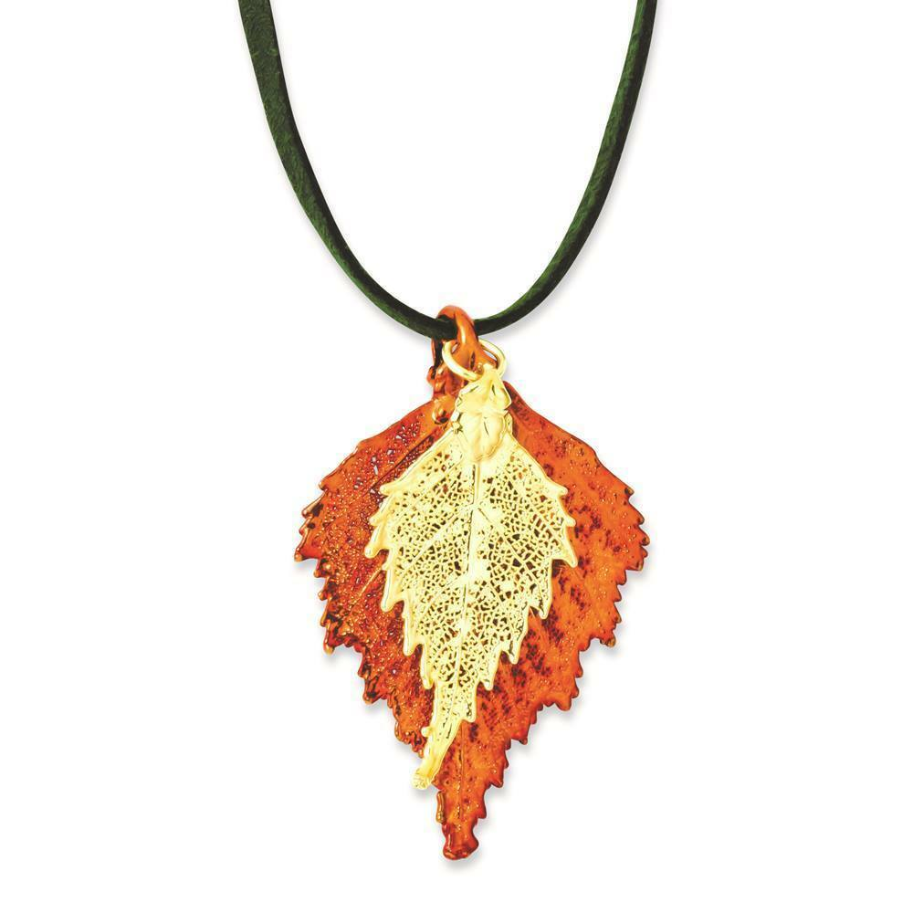 Flowers Amp Leaves Iridescent Copper 24k Gold Dipped Dbl