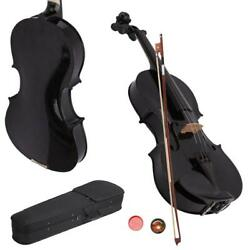 Kyпить New School Acoustic Violin 4/4 Full Size with Case and Bow Rosin Black на еВаy.соm