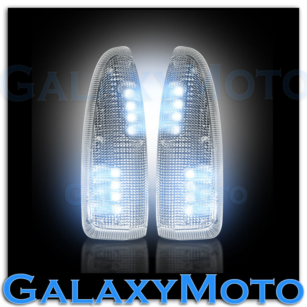 03 07 Super Duty Side Mirror Turn Lights White Led Clear