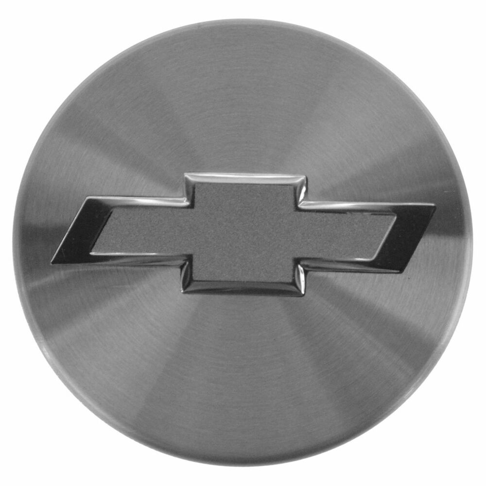 Oem 92202223 Center Cap Silver Satin Bowtie For Chevy