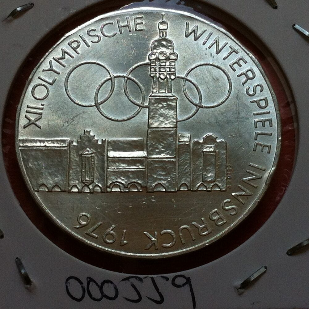 austria silver coin 100 schilling 1976 winterspiele. Black Bedroom Furniture Sets. Home Design Ideas