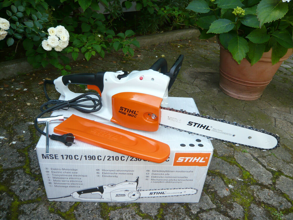 stihl elektro kettens ge motors ge elektros ge mse 190 c q 35 cm 1 3mm kette ebay. Black Bedroom Furniture Sets. Home Design Ideas