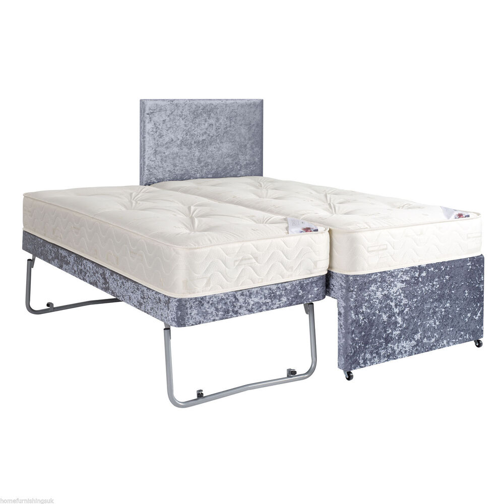 3ft Single Guest Bed 3 In 1 With Trundle Mattresses